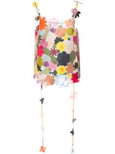 топ с заплатками в виде цветка Rosie Assoulin