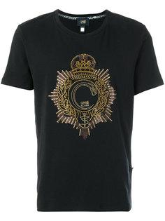 футболка с логотипом из заклепок Cavalli Class