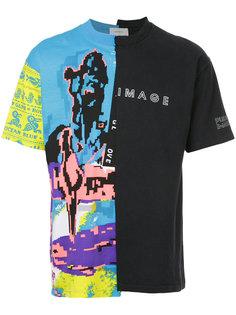 футболка с принтом в винтажном стиле Ex Infinitas