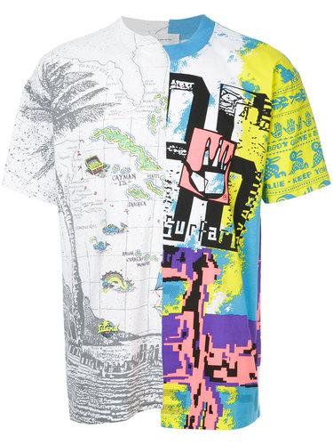 футболка с комбинированным принтом Ex Infinitas