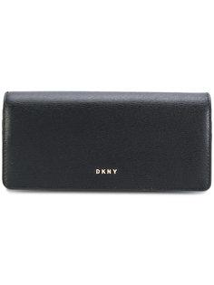 кошелек с откидным клапаном с бляшкой с логотипом Donna Karan