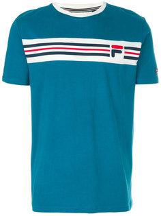 футболка с панелью в полоску Fila