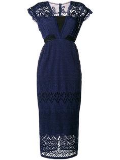 платье с рукавами-кап Dusck Three Floor