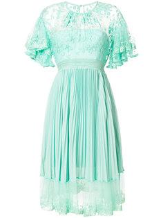 платье Haze с плиссировкой и кружевом Three Floor