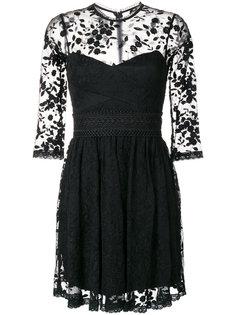 расклешенное кружевное платье Three Floor