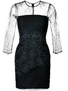 облегающее кружевное платье Three Floor
