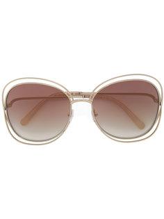 массивные солнцезащитные очки Chloé Eyewear