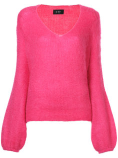 balloon sleeve V-neck jumper G.V.G.V.