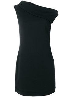 платье с асимметричным воротом  Helmut Lang