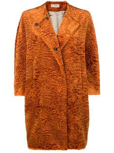 faux fur cocoon coat Alberto Biani