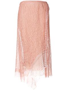 кружевная юбка миди с вышивкой  3.1 Phillip Lim