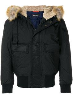 куртка-бомбер с капюшоном Diesel