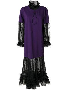 многослойное платье-футболка  Mm6 Maison Margiela