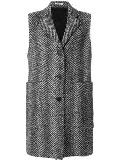 пальто без рукавов с узором  Lardini