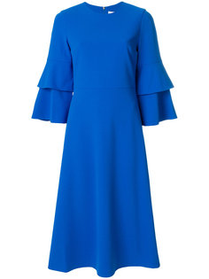 платье миди со структурированными рукавами-колокол  Tibi
