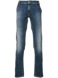 выбеленные джинсы кроя слим Pt05