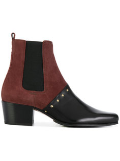 two tone studded ankle boots Balmain