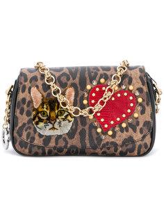 клатч с леопардовым принтом  Dolce & Gabbana