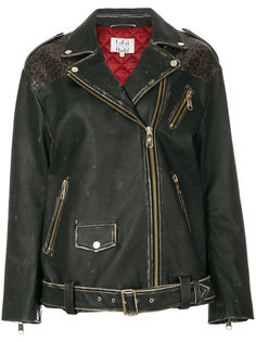 байкерская куртка с леопардовым принтом  Tommy Hilfiger