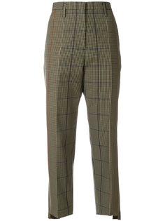прямые клетчатые брюки Golden Goose Deluxe Brand