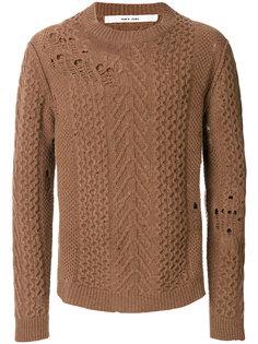 свитер с протертыми дырами Damir Doma