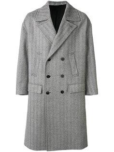 двубортное пальто с узором шеврон Neil Barrett