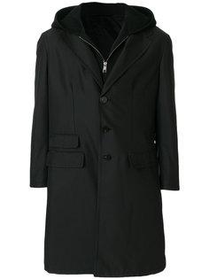 многослойное пальто с капюшоном Neil Barrett