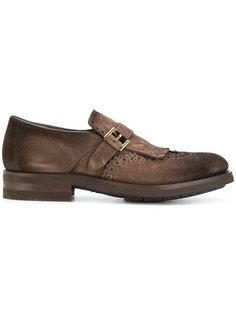 туфли-монки с перфорацией Santoni