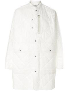 стеганое удлиненное пальто Oamc