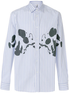 полосатая рубашка с заплатками Oamc