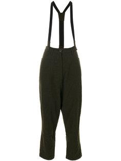 укороченные строгие брюки с подтяжками  Rundholz Black Label