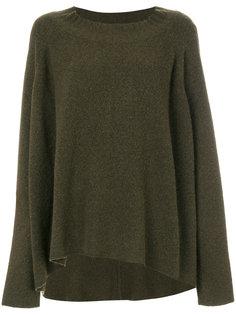 приталенный свитер с драпировкой  Rundholz Black Label