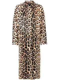 пальто с леопардовым принтом  Liska