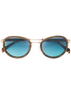 солнцезащитные очки с эффектом под дерево Tommy Hilfiger
