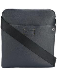 сумка-почтальонка с бляшкой с логотипом Armani Jeans