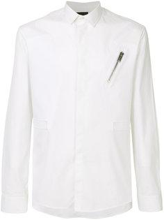 рубашка с отделкой молнией Les Hommes