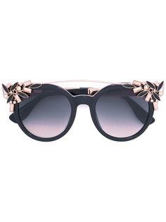 декорированные солнцезащитные очки Jimmy Choo Eyewear
