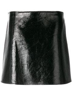короткая фактурная юбка  Courrèges