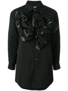 платье-рубашка с оборкой  Comme Des Garçons
