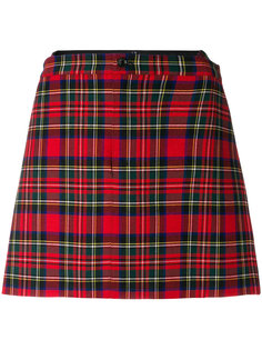 короткая юбка с узором тартан  Junya Watanabe Comme Des Garçons