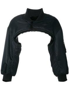укороченная дутая куртка-бомбер  Comme Des Garçons Noir Kei Ninomiya