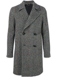 двубортное твидовое пальто  Doppiaa