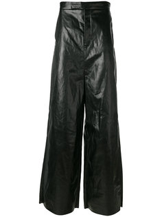фактурные расклешенные брюки Rick Owens