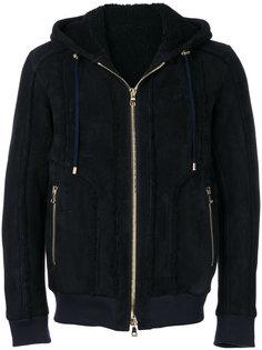 куртка-бомбер из овчины Balmain