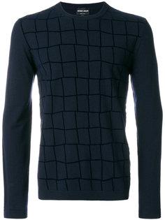 свитер в клетку Giorgio Armani