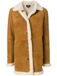 пальто с цигейкой  A.P.C.
