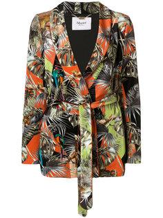 приталенный пиджак с поясом и цветочным принтом  Blugirl