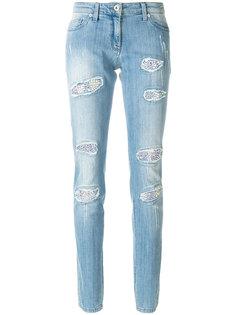 состаренные джинсы скинни  Blumarine