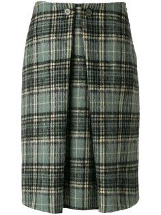 плиссированная юбка в шотландскую клетку Aspesi