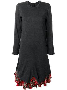 платье с панелью в клетку Junya Watanabe Comme Des Garçons